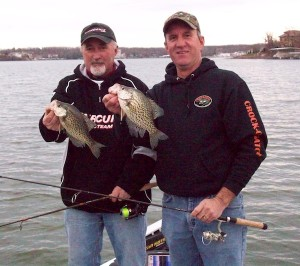 Jim and Terry Crappie Fishing